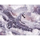 Runa Art Fototapete Pferd Pegasus Modern Vlies Wohnzimmer Schlafzimmer Flur - made in Germany - Rosa 9407010b