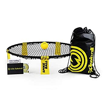 Spikeball Game Set - Played Outdoors Indoors Lawn Yard Beach Tailgate Park - Includes 1 Ball Drawstring Bag and Rule Book - Game for Boys Girls Teens Adults Family