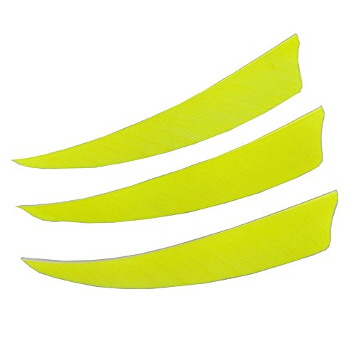 SHARROW 50 Piezas Tiro con Arco Plumas de Flecha 4 Pulgadas Naturales Pluma de Pavo Fletching Plumas para Flechas Fletches para Flechas de Carbono de Madera