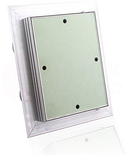 Revisionsklappe GK-Einlage grün 25 mm Gipskarton Revisionstür Wartungstür Alu 7. 250 x 300 mm