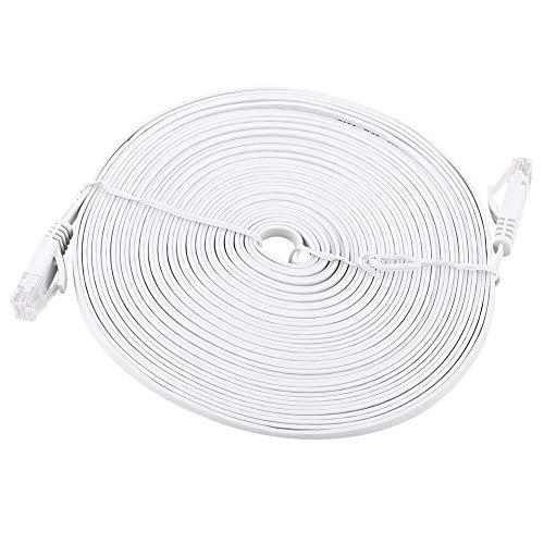 Meiyya Cables de enrutador, Cables de enrutador de Parche de atenuación pequeños Blancos, antiinterferencia Ligera para computadora de Escritorio(10M)
