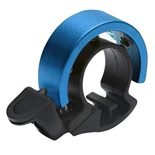 Campanello per bicicletta in lega di alluminio, design a O, per manubrio da 22,2 – 23,8 mm (celeste)