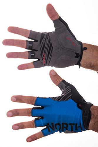 Northwave Blaze - Guantes Cortos para Bicicleta, Color Gris, Negro y Azul, L (9)