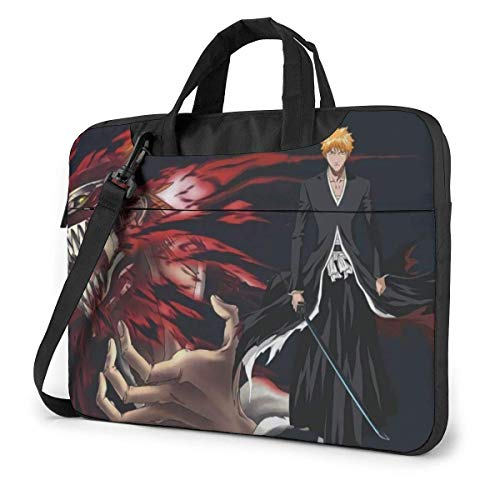 XCNGG Anime Bleach Stylish Customized Laptop Shoulder Bag, Suitable for 13-15.6 inch MacBook Pro/Air and Most Other Laptops, Portable Laptop Bags, Briefcase Protective Covers