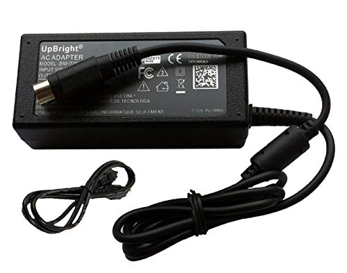 UpBright Global 4-Pin DIN AC/DC Adapter Replacement for Acbel AD7043 AD 7043 API5AD17 AP15AD17 Vectron POS SteelTouch PC Steel Touch Systems Power Supply Cord Battery Charger Mains PSU (w/ 4 Prong)