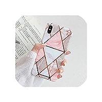 幾何学的な大理石の電話ケースIphone 11プロ最大Xr Xs最大6 6 s 7 8プラスXソフトImd電気めっきバックカバーCoque、Iphone 11、D