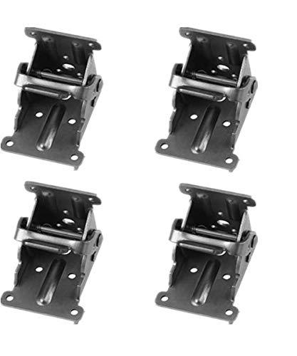 Tamu Bronze Steel Foldable Hinge Hardware Lock Extension Support for Folding Table Legs |Folding Workbench| (Set of 4 Bronze)