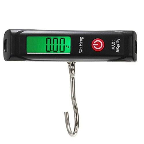 50kg/10g Digital Electronic Luggage scale Portable Hook Weight Hanging Travel Fishing shopping Home House Kitchen food FamilyMall