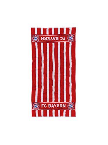 FC Bayern München Duschtuch/Handtuch rot-weiß gestreift / 70x140 cm