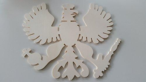 Schützenadler Pappelsperrholz 6 mm, Größe ca. 52 cm x 49 cm x 0,6 cm