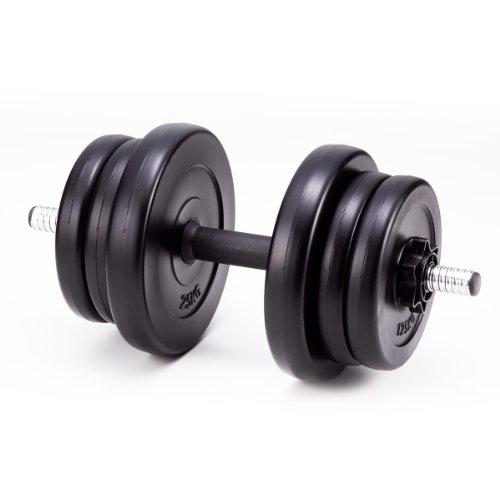IRONMAN CLUB(鉄人倶楽部) プラスチック ダンベル 10�s KW-770 ウエイト調節 2~10kg 筋力アップ トレーニング