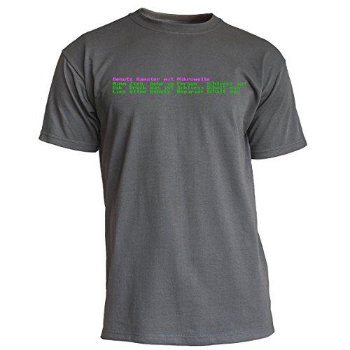 "Nukular T-Shirt ""Adventure"" (Auswahl-Menü), Farbe Graphit, Größe S"