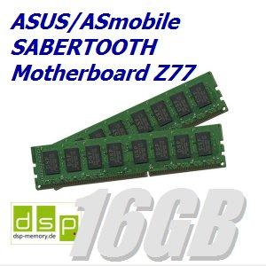 DSP Memory 16GB Speicher/RAM für ASUS/ASmobile Sabertooth Motherboard Z77 (Set aus 2 Modulen)