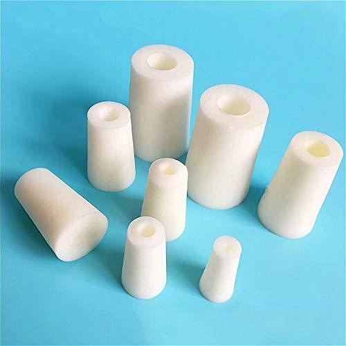 XFC-Industrial Strainer, Tubo de silicona 1pc del ensayo Espuma tapón con agujero 10 mm - 14 mm pequeña botella de silicona tapones adecuados de 12mm Tubo de ensayo de 100 PC
