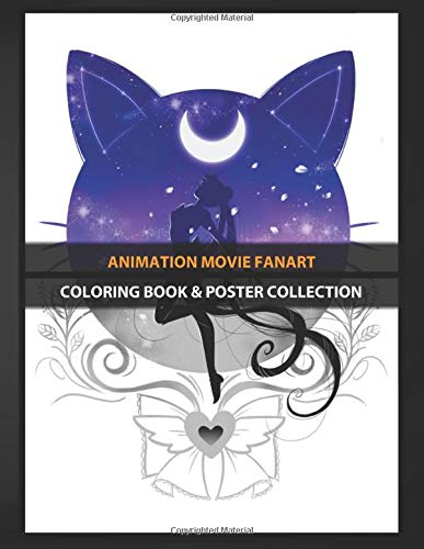 Coloring Book & Poster Collection: Animation Movie Fanart Sailor Moon Inspired Design Anime & Manga