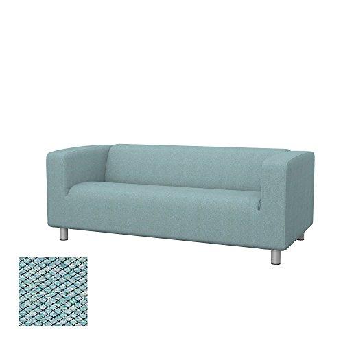 Soferia - IKEA KLIPPAN Funda para sofá de 2 plazas, Nordic Sea Green