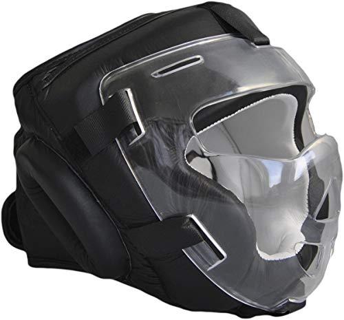 PHOENIX Kopfschutz mit Visier Leder...
