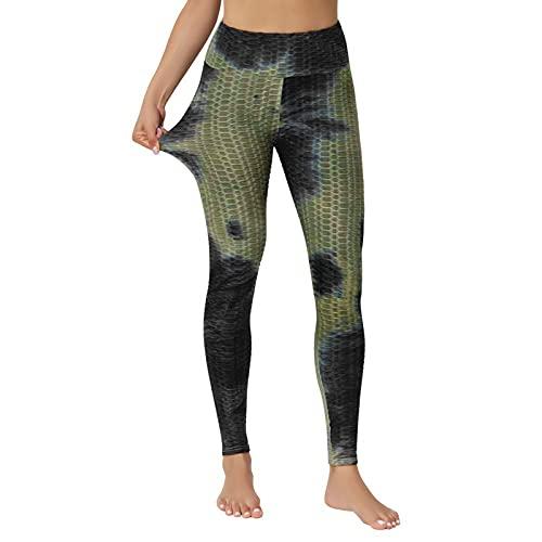 HFStorry Damen Workout Leggings Fitness Sport Laufen Yoga Sporthose Hohe Taille Hose mit Taschen Bauchkontrolle Workout Leggings für Damen