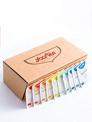 Yogi Tea Probier-Box mit 45 leckeren Yogi-Tee-Sorten I jeweils 2 Tee-Beutel pro Sorte I echte Bio-Tee-Qualität I exklusives Probier-Set in der Yogi-Tee-Geschenk-Box I Geschenk-Set Tee-Mix 90 Beutel