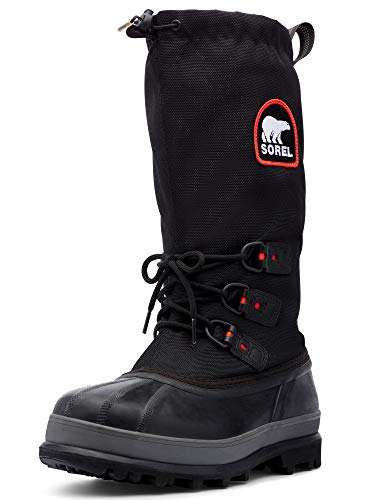 Sorel Men's Bear Extreme Snow Boot,Black/Red Quartz,11 M US