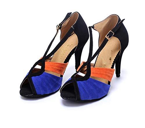 WDRSY Calzado De Danza para Mujer Zapatos De Baile Latino Zapatos De Baile De Fondo Suave Zapatos De Baile De Salón Zapatos De Baile De Salón Zapatos De Tacón De Escuela Secundaria Zapatos De Bail