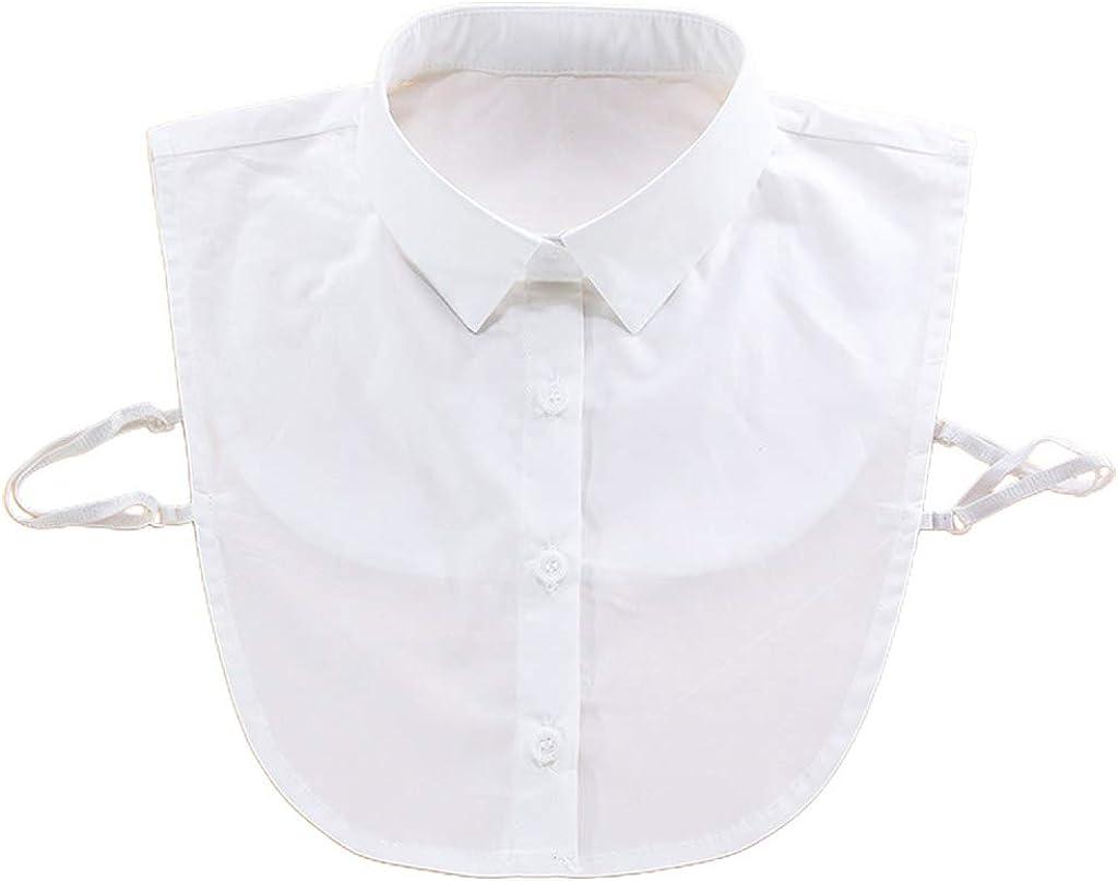 YOUSIKE Detachable Blouse, 17 Styles Women Girls Autumn Vintage Ruffles Stand Lapel Fake Collar Detachable Blouse Half Shirts Choker Necklace Sweater Vest Accessories