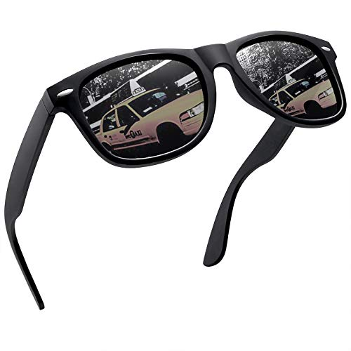 Joopin Sonnenbrille Herren Polarisiert Klassische und Sonnenbrille mit UV400 Schutz Vintage Grau Verspiegelt