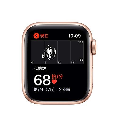 AppleWatchSeries5(GPSモデル)-40mmゴールドアルミニウムケースとピンクサンドスポーツバンド-S/M&M/L
