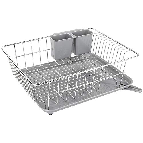 WHITGO Dish Drying Rack with Drain Board, Stainless Steel...