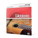D'Addario EJ83M Cordes pour guitare acoustique jazz manouche Extrémité à boule Moyen 11-35