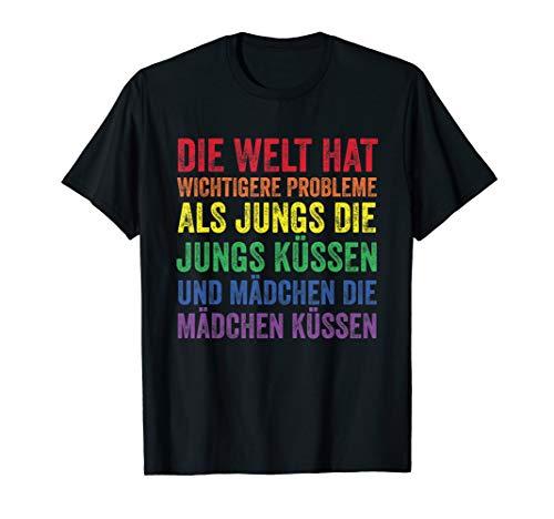 Schwul Lesbisch Bisexuell Trans CSD Pride Regenbogen Fahne T-Shirt