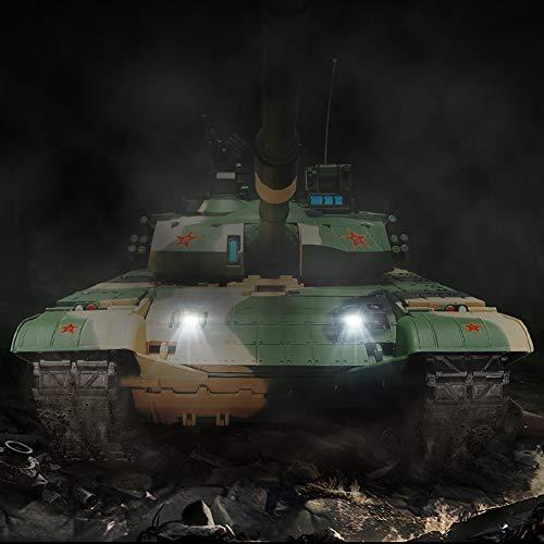 Deliya China 99A Airsoft KFOR-Edition - RC Ferngesteuerter Panzer Mit Airsoft Schuss, Sound Und Beleuchtung, Modell Im Maßstab 1:16 Inkl Akku, Ladegerät, Fernsteuerung Und Munition,Battery*3