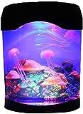 Lámpara de lava de medusas USB LED para acuario de medusas para decoración de dormitorio de niños, regalo de Navidad, cumpleaños en casa y oficina