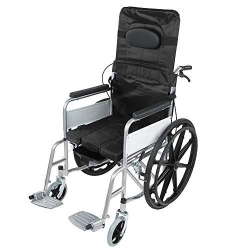 AYNEFY Faltrollstuhl Rollstuhl Faltbar Transit-Rollstuhl mit Handbremse und Armlehnen Manuell Ultraleicht Klapprollstuhl für Ältere und Behinderte Menschen, Schwarz