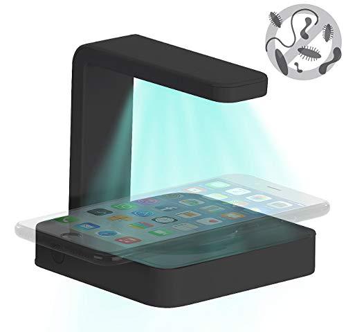 Somikon Ladegerät: 2in1-Smartphone-Ladestation mit UV-Desinfektions-Lampe, Qi-kompatibel (Handyladestation)