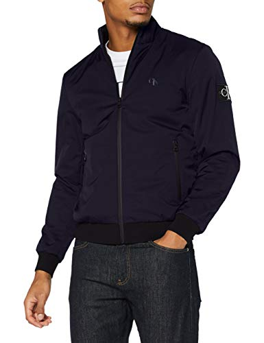 Calvin Klein Padded Zip Up Harrington Chaqueta, Night Sky, XL para Hombre