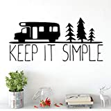 BailongXiao Modern Keep Simple Wall Art Sticker Etiqueta de la Pared Mural Vinyl Sticker Art Sticker Etiqueta de la Pared para la habitación de los niños 54x115cm