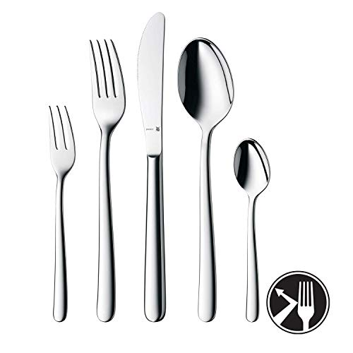 WMF Kult Besteckset, 12 Personen, 60-teilig, Monobloc-Messer, Cromargan protect Edelstahl poliert, glänzend, kratzbeständig, spülmaschinengeeignet
