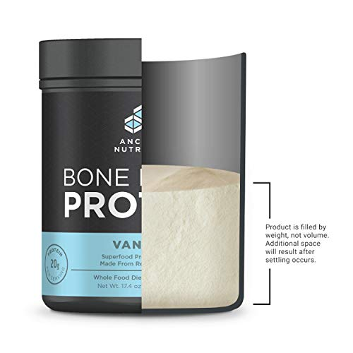Ancient Nutrition Bone Broth Protein Powder, 20g Protein Per Serving, Paleo, Low Carb Superfood, Vanilla, 20 Servings
