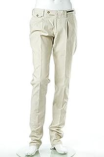 (ピーティーゼロウーノ) PT01 パンツ スラックス CARROT FIT COTTON メンズ (CO ZKN2 MA TS95) ベージュ 【並行輸入品】