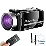 【Full Upgrade】 Ultra HD Video Camera Camcorder Vlogging...