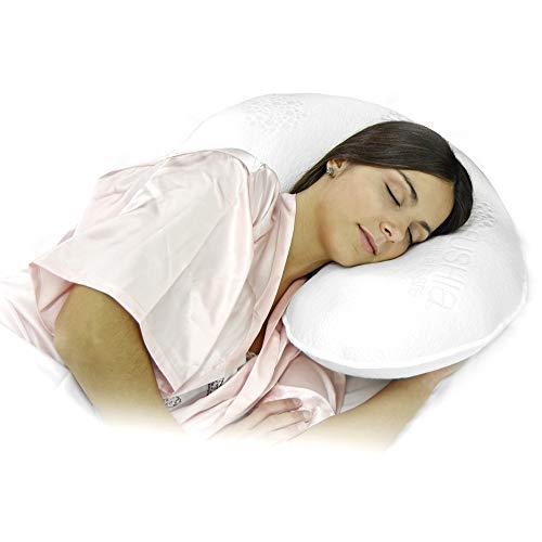 Almohada Ergo Fushia   Almohada Antiácaros, Espuma Viscoelastica Ideal para Dormir de Lado   Lavable   Firmeza Media