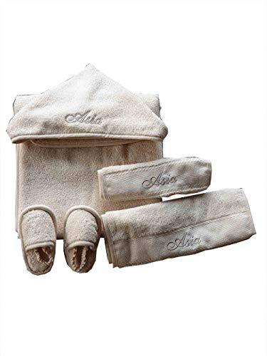 Accappatoio Triangolo neonato con ricamo personalizzato Asciugamano bambino cotone con...