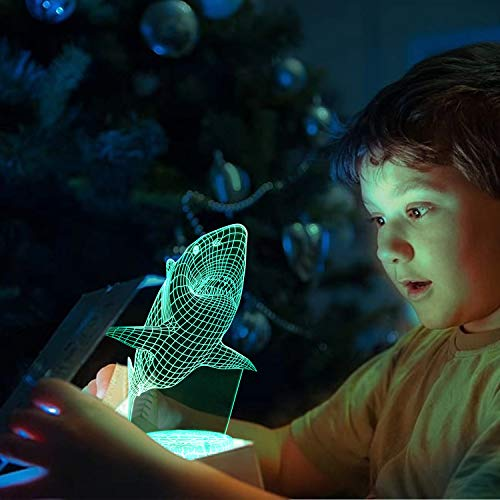 Product Image 6: Shark 3D Optical Illusion Lamp, 3D Night Light for Kids, Shark Toys for Boys, Gifts Boys Age 10 4 7 11 9 8 6