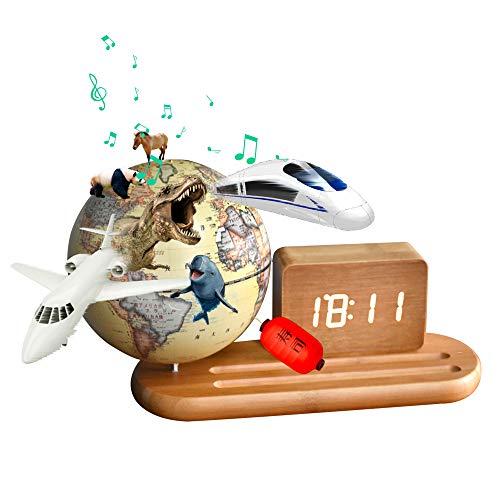 地球儀 子供 AR しゃべる地球儀 日本語 球径13cm 目覚まし時計付き 3Dで学べる 5WAY「小さな世界」 LEDライト付き 知育玩具 ベッドサイドランプ 行政タイプ 真珠フィルム ムーディー 防水 先生おすすめ 新入学のお祝いに プレゼント (ye