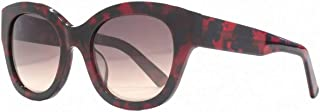 French Connection Womens Premium Cat Eye Sunglasses - Red/Black
