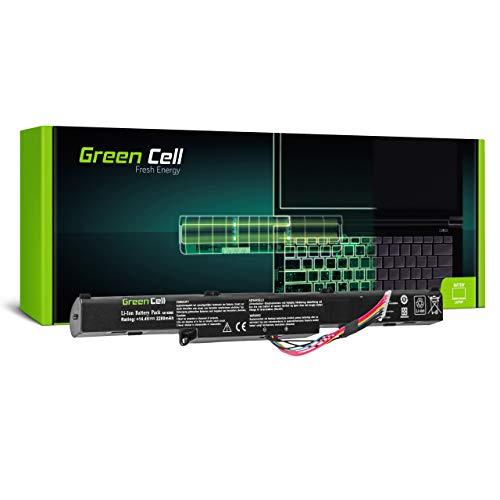 Green Cell Batterie pour ASUS VivoBook F751BP F751BP-TY026T F751BP-TY034T F751BP-TY035T X751B X751BP X751BP-T4093T X751BP-TY048T X450 X450J X450JB Portable (2200mAh 14.4V Noir)
