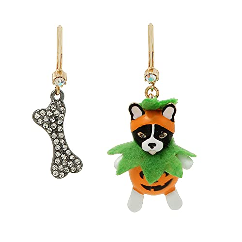Jack-o-Lantern Dog Mismatch Earrings