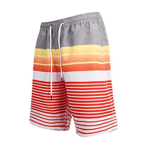 Pantalones Cortos para Hombres Pantalones de Playa de Secado rápido Pantalones de Surf Estampado Digital
