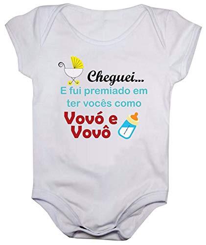 Body de bebê estampas divertidas (M, Estampa cheguei)